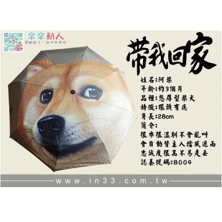 【現貨】柴犬大頭自動傘 | inif印衣服,巧昱服飾設計有限公司