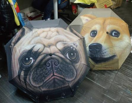【現貨】柴犬大頭自動傘